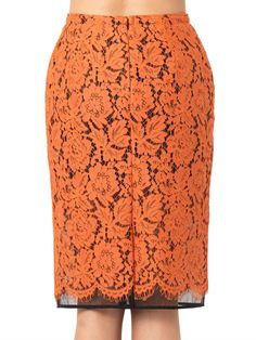 MSGM Lace pencil skirt - ooooh love this color for Fall !