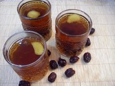 Red dates and ginger tea