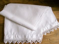 Vintage Linens Cotton Pique Guest Hand by AletaFordBakerDesign