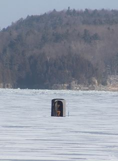 Ice fishing in Vermont