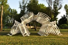 Shell.ter Pavilion, 2012  Diogo Aguiar & Teresa Otto  www.likearchitects.com  via archdaily.com    for #material #form #installation