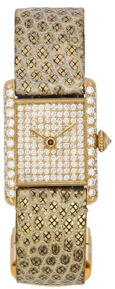 A diamond wristwatch, by Cartier #christiesjewels #watch