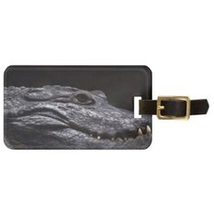 Crocodile Alligator Reptile Scary Animal Aquarium Luggage Tag - animal gift ideas animals and pets diy customize