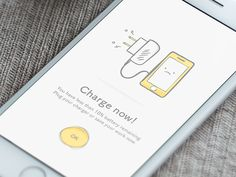 Alert - Recharge now! by Guillaume Marc - Dribbble