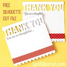 Free Silhouette .studio cut file - thank you cards