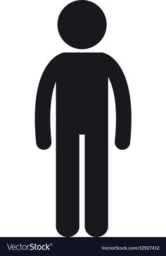 Man stand person icon pictogram vector image on VectorStock Free Vector Images, Vector Free, Marketing Association, Person Icon, Web Design, Graphic Design, Islam Facts, Single Image, Vector Icons
