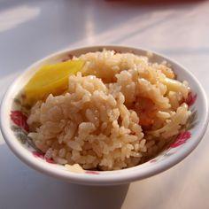 早安!小碗蝦仁飯,油度適中。@阿堂鹹粥 Good Morning! #Rices with #shrimps #Tainan #breakfast #food #Taiwan