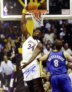 85a410d3d Shaquille Shaq O Neal Autographed 16x20 Photo Los Angeles Lakers PSA DNA