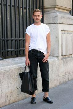 Black and white monochrome /  Mens fashion