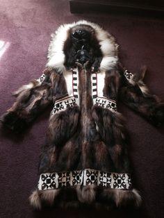 My traditional Iñupiaq handmade fur Parka, Nigraligaaq Kayuagutiligaaq Made by my mother Margaret Hadley of Kotzebue Alaska.