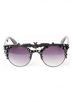 edf44e65e1f70 Gasoline Glamour Devil s Tongue Coco Bat Sunglasses, £49.99 Visual Kei,  Cool Sunglasses,