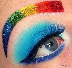 Minus the crazy Rainbow eyebrow ha