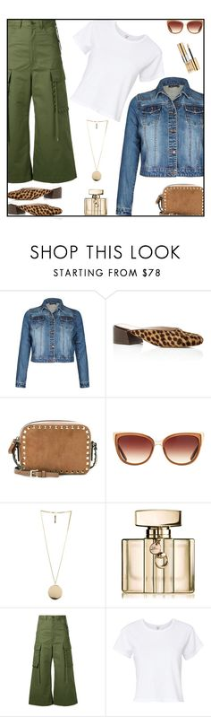 """It started with a simple white t-shirt"" by sweet-designs ❤ liked on Polyvore featuring Mari Giudicelli, Valentino, Barton Perreira, Givenchy, Gucci, G.V.G.V., RE/DONE, Yves Saint Laurent, denim and leopard"