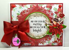 Rosemary's Creations: 7 Kids College Fund: Stamping Bella Tiny Townie Pamela the Poinsettia