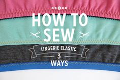 SEWING TECHNIQUES Great pictures to help aid you in sewing elastic so to your handmade lingerie, or maybe adding new elastic to some of your favorite store bought lingerie. Sewing Bras, Sewing Elastic, Sewing Lingerie, Sewing Clothes, Lingerie Dress, Diy Sewing Projects, Sewing Hacks, Sewing Tutorials, Sewing Patterns