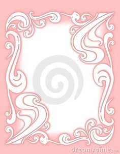 Decorative Pink Flourish Border or Frame