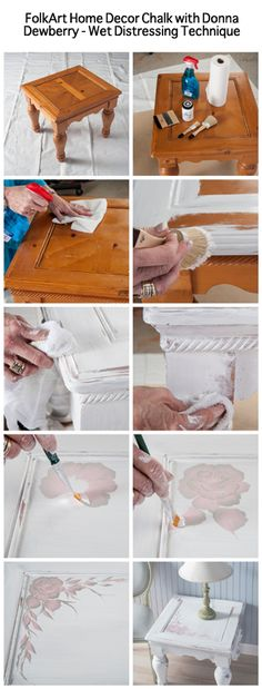 Wet Distressing Paint Technique with FolkArt Home Decor Chalk by Donna Dewberry