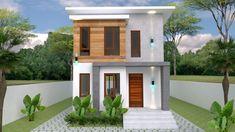 Small Home design Plan with 3 Bedroom – SamPhoas Plan Duplex House Design, Simple House Design, Minimalist House Design, Minimalist Home, Home Design Plans, Home Interior Design, Model House Plan, Villa Design, Story House