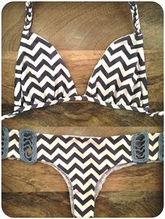 I don't usually like triangle bikinis but this is so cute! Gimme!