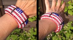 Free tutorial : American flag cuff bracelet with clasp. Part 1 of 3 : http://www.youtube.com/watch?v=IBOvTpS25pI