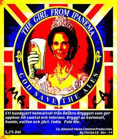 """The Girl From Ipanema, Stefan Ed, Ödåkra 2014. """"Mitt förhållande till monarkin i Sverige har besvärande. Däremot har engelsk musik lättare att nå mitt hjärta. Jag vill att min öl ska vara som min etikett. Smakfull med attityd."""" Licens: CC-BY-NC."""