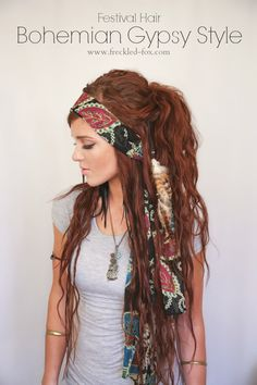 The Freckled Fox : Festival Hair Week: Bohemian Gypsy Style. Yep. Every time I try this, though, it looks even rattler. And not in a cool way.