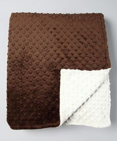 Look what I found on #zulily! Aduly sized Ivory & Brown Throw by Bebe Bella Designs #zulilyfinds