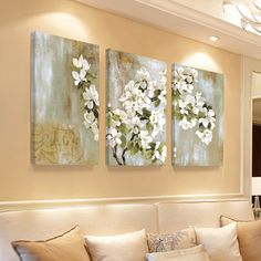 L'Apple Blossom Peinture murale Peintures Flower Home Decor Canvas Cuadros mur…