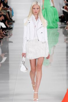 Ralph Lauren | Spring 2014 Ready-to-Wear Collection | Sasha Luss Modeling | Style.com