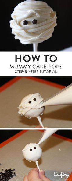 Make mummy cake pops to celebrate Halloween. Learn how with our step-by-step photo tutorial.