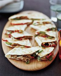 Pulled Pork & Goat Cheese Quesadillas - made a gluten free version of this tonight - incredible