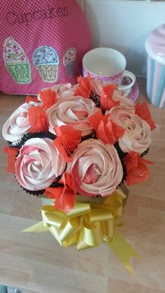 Rose cupcake bouquet for Emmaline's 25th B.Day
