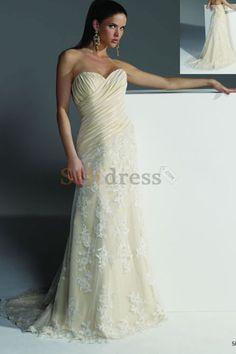Pleated Bodice Silver Informal & Casual Sheath Wedding Dress
