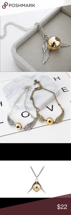 Necklace Men Vintage Style Angel Wing Popular  Necklace Men Vintage Style Angel Wing Charm Golden Snitch Pendent Necklace For Men Necklace Chain Gentlemanshop Accessories Jewelry