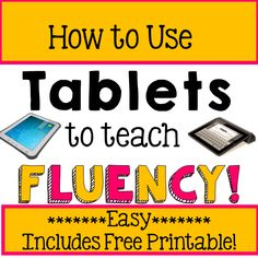 iTeach First: 1st Grade Teaching Resources: Techy Tuesday: Using Tablets to teach Fluency