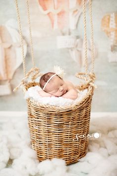 Newborn Photography (I have a basket I could use, one that I slept in as a baby, too)