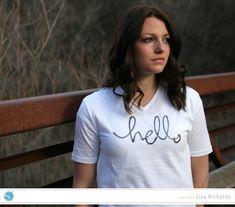 Hello Shirt Designed by Lisa Richards