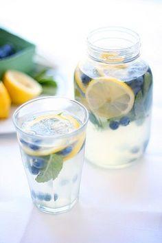 Mint blueberry lemonade.
