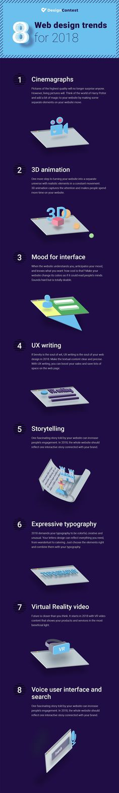 8 Web Design Trends for Your Business in 2018 [Infographic]