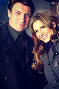 Nathan Fillion & Stana Katic bts Castle