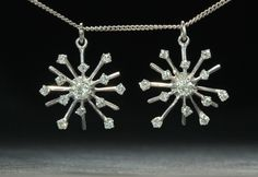 The prettiest snowflakes I could find, diamond pendants #allthatglitters