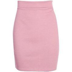 Boohoo Maeve Ribbed Mini Skirt | Boohoo ($14) ❤ liked on Polyvore featuring skirts, mini skirts, midi skirt, mid calf skirts, cocktail skirt, holiday skirts and short pink skirt