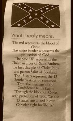 This flag represents the killing and enslavement of black people in America. This flag is a not a good representation of Christianity. Face it, the SOUTH LOST! Take your southern heritage flag and burn it! American Pride, American Civil War, American Flag, American History, Southern Heritage, Southern Pride, Southern Drawl, Southern Sayings, Simply Southern