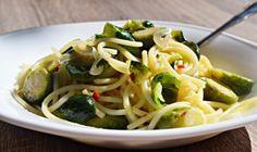 Espaguete com couve de bruxelas 1