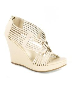 Nude Crisscross Kealie Wedge Sandal by Diviana ~ Sale $17.99 & many more Your Best Foot Forward up to 65% off