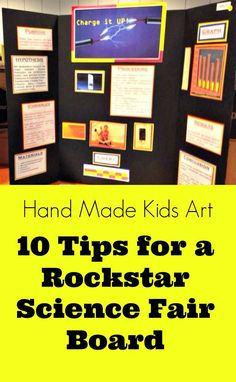 lightning+science+fair+project+ideas | 10 Tips for a Rockstar Science Fair Board