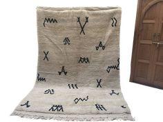 Large African Beniourain rug 6'5x9'8 Genuine by Beniouraincarpets
