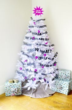 If you are silly make this punny christmas tree.