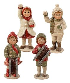 Shelley B Home and Holiday - Mini Winter Children Vintage Holiday Figures by Bethany Lowe, $52.00 (http://shelleybhomeandholiday.com/mini-winter-children-vintage-holiday-figures-by-bethany-lowe/)