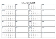 2018 Calendar Excel A3 with Notes - Download our free printable 2018 A3 excel calendar including notes template with US holidays. It also has separate space available for appointment and notes.